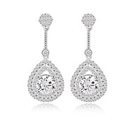 Fashion Classic Teardrop Long Dangle Earrings Filled With Sparkling Tiny CZ Diamond Drop Earrings