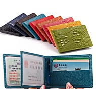 Men & Woman 's Genuine Leather Wallets Purse Driving License ProtectionCard & ID Holders