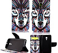 For Motorola Case Card Holder / Wallet / with Stand / Flip Case Full Body Case Dog Hard PU Leather Motorola
