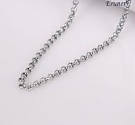 eruner®unisex plata 2 mm collar de cadena no.43
