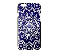 Blue and White Pattern Painting PC Hard Case for iPhone 6