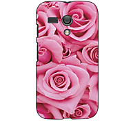 Pink Rose Design Hard Case for Motorola MOTO G