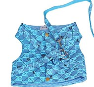 Comfortable Gugi Pattern Blue Harness with Leash for Pet Dogs(Assorted Sizes)