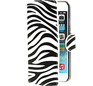 Zebra Stripes PU Leather Cover with Stand and Card Slot for iPhone 6