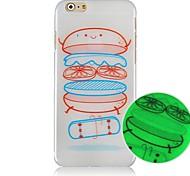 Hamburger Luminated Pattern Hard Back Case for iPhone 6
