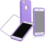 Transparent touch TPU shell Cases for iPhone 6 (Assorted Color)