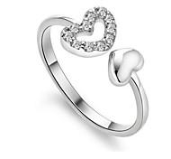 Женский Массивные кольца Сердце бижутерия Стерлинговое серебро Бижутерия Назначение Свадьба Для вечеринок Повседневные