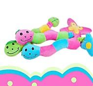 mignon trois couleurs coccinelle grincement forme mâcher jouet en peluche pour les chiens de compagnie (de couleur aléatoire
