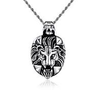 Lion Domineering Personality Skeleton Titanium Steel Necklaces