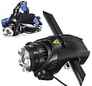 ls117 cree t6 levou 3-mode zoomable 1800 lumens bicicleta faróis de bicicleta kits de farol (baterias e carregador estão incluídos)