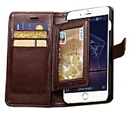 Durable PU Leather Wallet Case for iPhone 6 Plus (Assorted Colors)