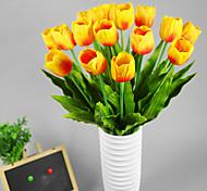 tamanho grande pu tulipa emulational, 2pcs / set