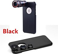8X Telephoto Lens / Fisheye Lens / Wide Angle Add-on Macro Lens Kit with Back Case for iPhone 6
