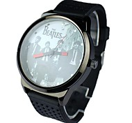 Men's Round Dial Silicone Band Quartz Analog Wrist Watch Cool Watch Unique Watch