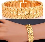 U7®Love Bracelet 18K Real Gold Platinum Plate Luxurious Chunky Bracelet Bangle Fashion Jewelry for Men/Women