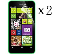 [2-Pack] High Transparency LCD Crystal Clear Screen Protector with Cleaning Cloth for Nokia Lumia 630/635/638/636