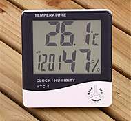 "3.9"" LCD Digital Temperature Humidity Meter with Alarm Clock (1 x AAA)"