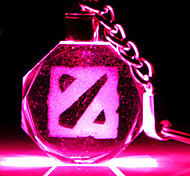 DOTA2 Logo Crystal LED Flashlight Keychain