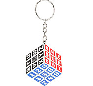 Children/Adults White Plastic 3x3x3 Magic Puzzle Keychain(number)