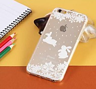 Decorative pattern Transparent TPU Pattern Soft Case for iPhone 6