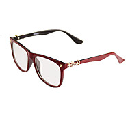 [Free Lenses] Plastic Square Full-Rim Fashion Prescription Eyeglasses