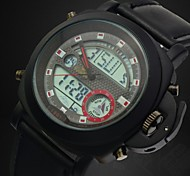 montre militaire double fuseau horaire résistante avec des montres fonction de calendrier de sport (couleurs assorties) des hommes de l'eau