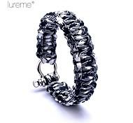 Lureme® Paracord Survival Cord U-Shaped Shackle Bracelet