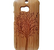 Kyuet Bamboo Case Natural Superior Bamboo Laser Engraving Trees Shell Cover Skin Cell Phone Case for Htc One M8