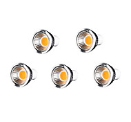GU10 Focos LED MR16 7 COB 500-550 lm Blanco Cálido Regulable AC 100-240 V 5 piezas