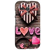 Pink Love Design Hard Case for Motorola MOTO G