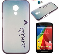 Love Pattern PC Back Cover Case With Dustproof plug for Motorola G2