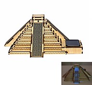Mayan Pyramid DIY Colored Drawing and Automatic Solar Light Sensation Toy