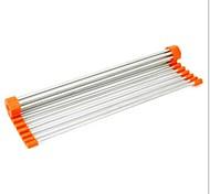 15 dobráveis drenagem prateleiras, aço inoxidável 40,8 × 21,5 × 5 centímetros (16,1 × 8,5 × 2,0 polegadas) cor aleatória