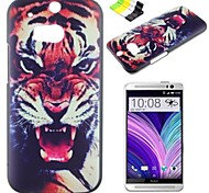 Roaring Tiger Pattern PC Hard Case and Phone Holder for HTC One(M8)