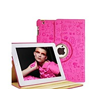 High Quality Little Witch PU Full Body Cases with 360 Degree Rotation for iPad 2/3/4