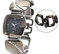 relógio de bronze quadrado pulseira de relógio de senhora