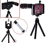 Apexel Telescope 8X Zoom Telephoto Manual Focus Lens with Universal Holder / Tripod and Hard Back Case for iPhone 5C
