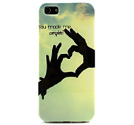 Heart Shape Design Durable TPU Soft Cover Case and Mini Display Stand with Diamond Dust Plug for iPhone 5/5S