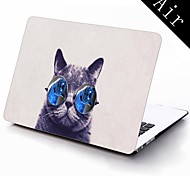 Funny Cat with Big Glasses Design Full-Body Protective Plastic Case for 11-inch/13-inch New Mac Book Air
