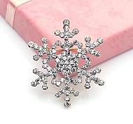 brilhando cheia de diamantes broche de neve