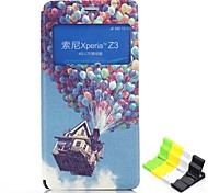 Balloon Pattern PU Leather Full Body Case Have A Perfume and Phone Holder for Sony Xperia Z3