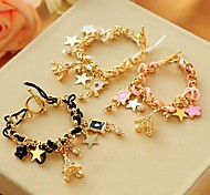 Fashion Cards And Stars Multicolor Alloy Bracelet(1 Pc)(More Color)