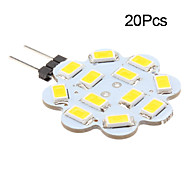 3W G4 Luces LED de Doble Pin 12 SMD 5630 270 lm Blanco Cálido / Blanco Fresco DC 12 V 20 piezas