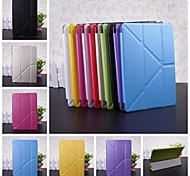 Wkae® Solid Color PU Leather and Plastic Smart Cover Case with Stand for iPad mini 1/2/3(Assorted Colors)