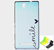 Smile Pattern PC Hard Case and Phone Holder for Sony C3