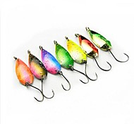 Hot Sale New 2.7g Colorful Pure Copper Bait Spoon Fishing Lures(10pcs)