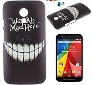 Teeth Tree Pattern PC Back Cover Case With Dustproof plug for Motorola G2