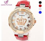 orologio casuale vendita orologi da polso da donna cinturino in pelle al quarzo di sport delle donne di strass moda orologio (colori