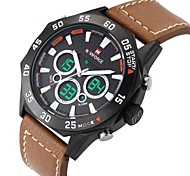 Luxury Men's Watches Analog Digtital Sport Military Wristwatch Genuine Leather Fashion LED Wrist Watch (Assorted Colors)
