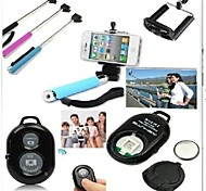 3-In-1 Bluetooth Extendable Handheld Self-timer Stick Monopod Holder with Remote Control for iPhone and Other Phones